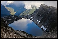 Hidden Lake and clouds, North Cascades National Park.  ( color)