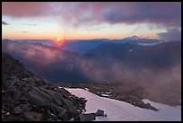 Sunset from Hidden Lake Peak, North Cascades National Park. Washington, USA.