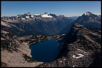 Hidden Lake under a full moonlight, North Cascades National Park. Washington, USA.