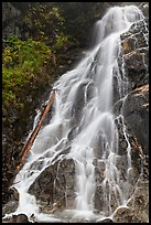 Waterfall along North Fork of the Cascade River, North Cascades National Park.  ( color)