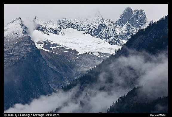 Picket Range from Mt Terror to Inspiration Peak, North Cascades National Park.  (color)
