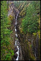 Gorge Creek Falls in autumn, North Cascades National Park Service Complex.  ( color)