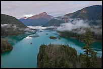 Sunrise, Diablo Lake, North Cascades National Park Service Complex. Washington, USA.