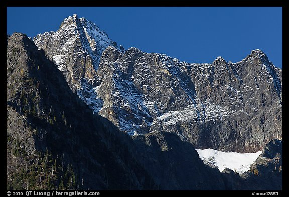 Mount Benazarino, morning, North Cascades National Park.  (color)