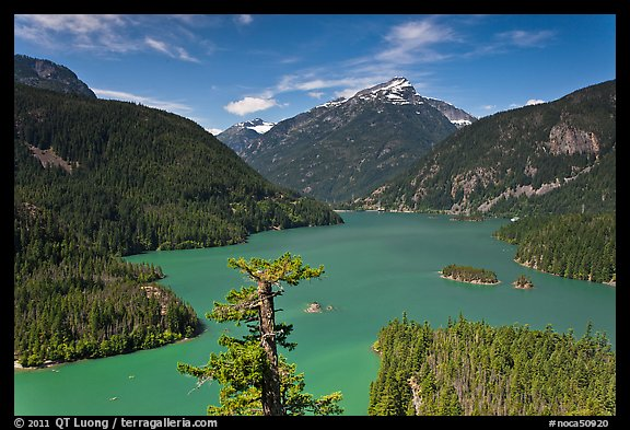 Diablo Lake from overlook,  North Cascades National Park Service Complex.  (color)