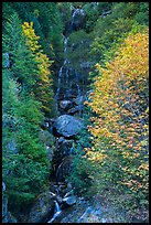 Waterfall in autumn, North Cascades National Park Service Complex.  ( color)