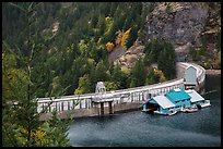 Ross Dam, North Cascades National Park Service Complex.  ( color)