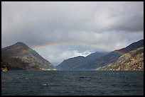 Rainbow over Lake Chelan, North Cascades National Park Service Complex.  ( color)