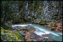 Agnes Creek in Agnes Gorge, Glacier Peak Wilderness.  ( color)