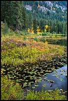 Coon Lake in autumn, Stehekin, North Cascades National Park Service Complex.  ( color)