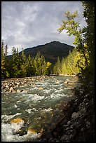 Stehekin River, North Cascades National Park Service Complex.  ( color)