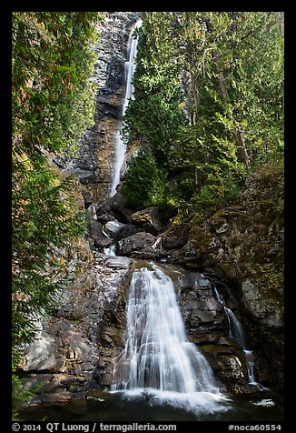 Rainbow Falls, Stehekin, North Cascades National Park Service Complex.  (color)