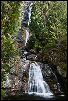 Rainbow Falls, Stehekin, North Cascades National Park Service Complex.  ( color)