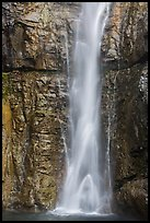 Base of Upper Rainbow Falls, Stehekin, North Cascades National Park Service Complex.  ( color)