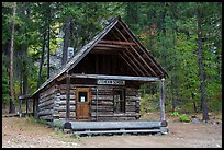 Historic schoolhouse, Stehekin, North Cascades National Park Service Complex.  ( color)