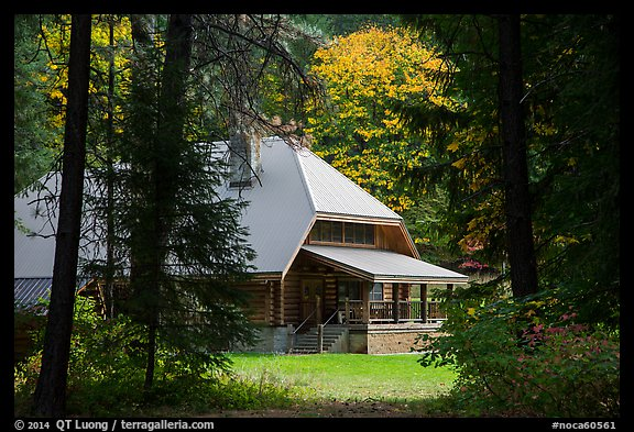 New schoolhouse, Stehekin, North Cascades National Park Service Complex.  (color)
