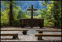 Groseclose meditation site, Stehekin, North Cascades National Park Service Complex.  ( color)