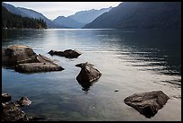 Rocks, Lake Chelan, Stehekin, North Cascades National Park Service Complex.  ( color)