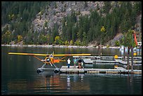 Floatplane on Lake Chelan, Stehekin, North Cascades National Park Service Complex.  ( color)