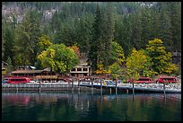 Stehekin Landing, North Cascades National Park Service Complex.  ( color)
