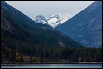 Snowy peaks above Stehekin and Lake Chelan,  North Cascades National Park Service Complex.  ( color)