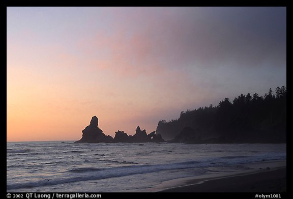 Sunset, Shi-Shi Beach. Olympic National Park (color)