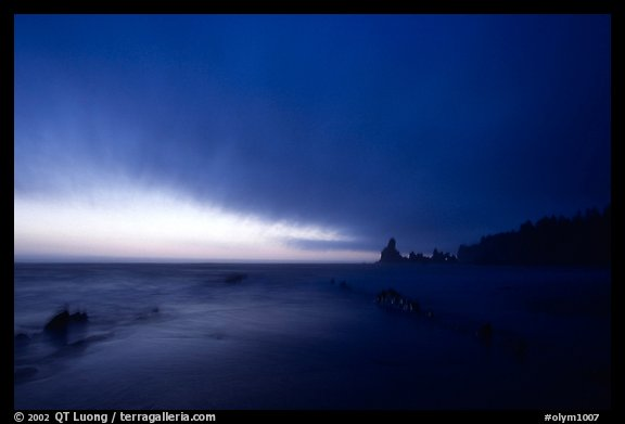Shi-shi beach, dusk. Olympic National Park (color)