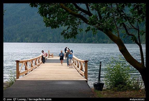 Pier and Crescent Lake. Olympic National Park (color)