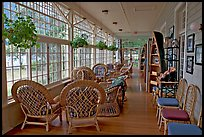 Sun room, Crescent Lake Lodge. Olympic National Park, Washington, USA.