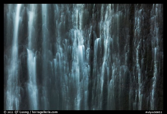 Water curtain, Marymere Fall. Olympic National Park (color)