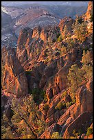 Rocky spires at sunset. Pinnacles National Park ( color)
