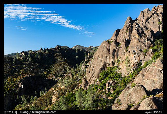 Crags raising above chapparal. Pinnacles National Park (color)