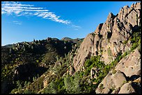 Crags raising above chapparal. Pinnacles National Park ( color)