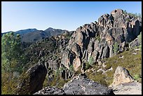 High Peaks. Pinnacles National Park, California, USA. (color)