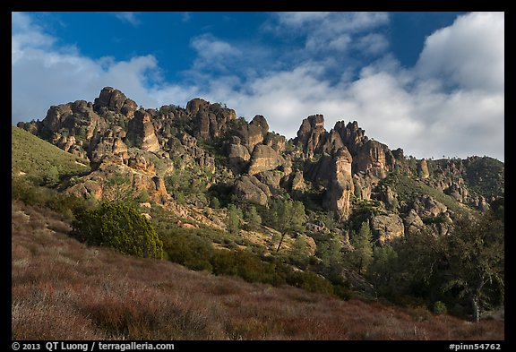 Pinnacles from West side. Pinnacles National Park (color)