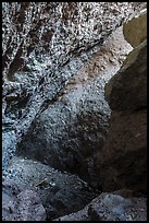 Rocks, Balconies Cave. Pinnacles National Park, California, USA. (color)