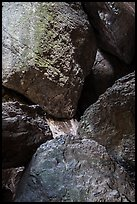 Boulders in Balconies Cave. Pinnacles National Park, California, USA. (color)
