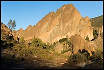 Machete Ridge, late afternoon. Pinnacles National Park ( color)
