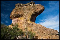 Anvil rock formation. Pinnacles National Park, California, USA. (color)
