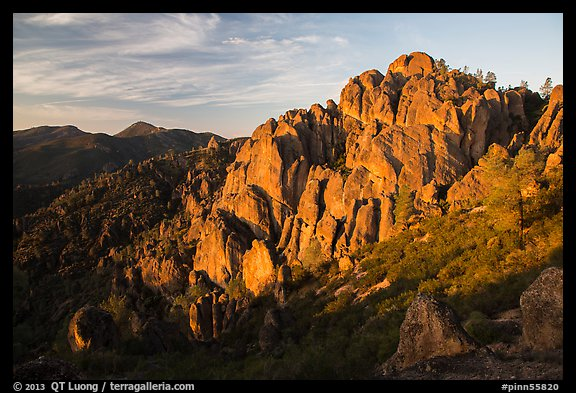 High Peaks at sunrise. Pinnacles National Park (color)