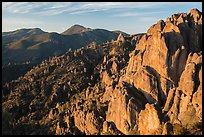High Peaks with Chalone Peaks in the distance, early morning. Pinnacles National Park ( color)