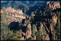 Balconies and Square Block rock, early morning. Pinnacles National Park ( color)