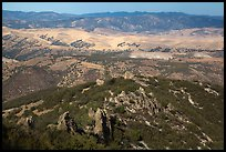 Hilly landscape seen from South Chalone Peak. Pinnacles National Park ( color)