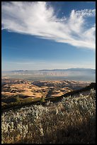 Salinas Valley from South Chalone Peak, late afternoon. Pinnacles National Park ( color)