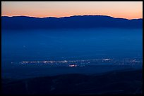 Soledad and Salinas Valley from Chalone Peak at dusk. California, USA ( color)
