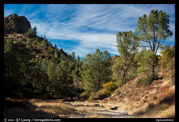 Dry Chalone Creek bed in the fall. Pinnacles National Park (color)