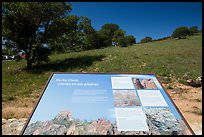 Interpretive sign near West entrance. Pinnacles National Park ( color)
