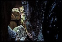 Cave walls and boulders, Bear Gulch Cave. Pinnacles National Park ( color)