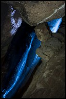 Waterfall, Lower Bear Gulch Cave. Pinnacles National Park ( color)
