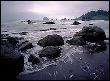Boulder and surf, Hidden Beach. Redwood National Park ( color)